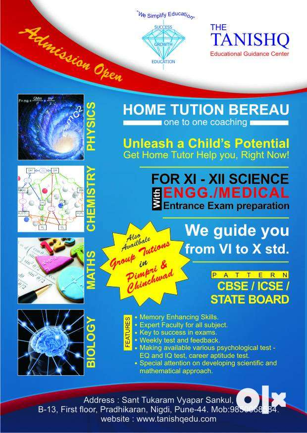 Home Tuition Group Tuition Personal Tuition CBSE Board  All Std, Subje 0