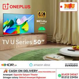 OnePlus tv U50' 4k with Android now avilable on no cost emi at N4U
