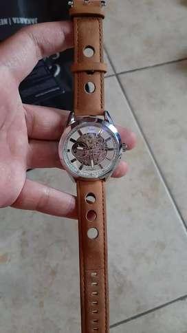 Parlent Wood jam tangan automatic like new!!