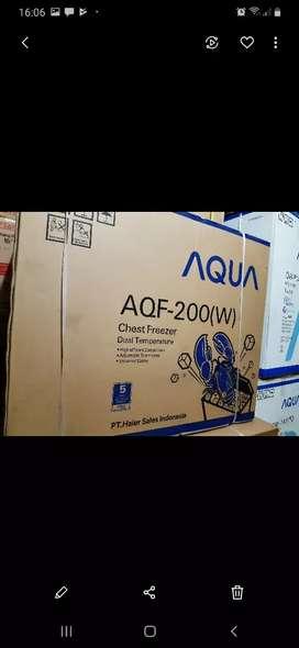BISA KREDIT - box frezer AQUA kapasitas 200 L cocok untuk usaha anda