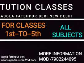 Classes for 1st to 5th. All subjects will be taught