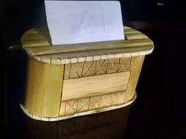 Bamboo Tissue paper dispenser