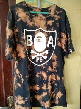 T shirt Bape A bathing Ape tie dye original second