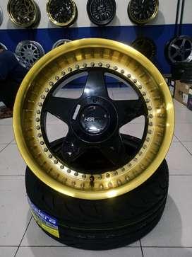 Velg Mobil Ring 17 HSR VS R17 Lebar 8,5/ 9,5 pcd 4x100 ET38/25