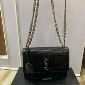 ysl bag croco authentic
