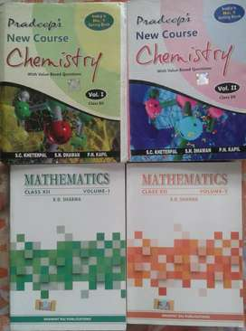Pradeeps class 12th Chemistry Reference and RD Sharma Maths Reference
