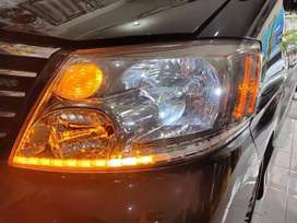 Modif Alis Headlamp LED DRL Alphard w/Running Sign
