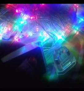 Lampu LED hias/ kelap-kelip/ dekor/ warna-warni/ twinkle warm light