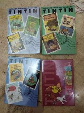 7 hardcover Komik Tintin Versi English