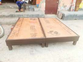 A New Double Bed Low height 6×6 feet