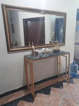 Rod iron console with marbel top