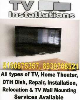 All types of TV, Wall Mounting Available