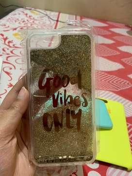 Beautiful transparent water glitter case