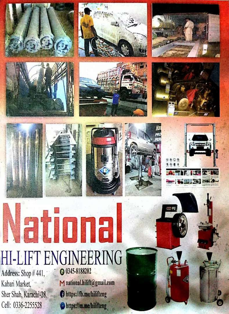 We deal in service station equipments  (read add) 0