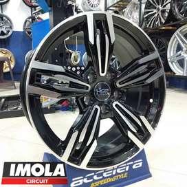 velg mobil import ring 17 hsr wheel free ongkir pcd 5x114,3 Black