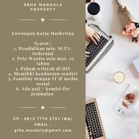 Kerja Tim Marketing/Sales Perumahan di Candi Gebang Sleman DIY