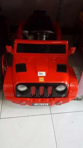 Mobil Aki mainan little jeep arang baru komplit