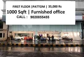 35,000 Rs | 1000 Sqft | first floor | Fully Furnished space | Pattom