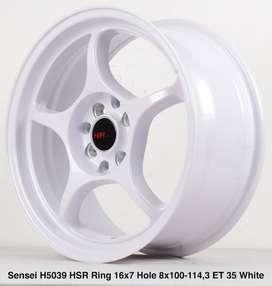 new velg SENSEI 5039 HSR R16X7 H8X100-114,3 ET35 WHITE