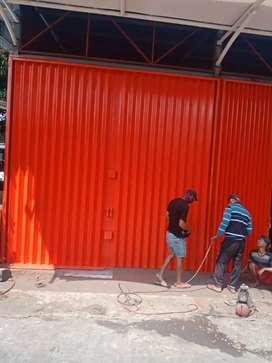 Folding Gate 2 Rolling Door Harmonika Jakarta utara bagus terbaik