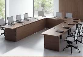 Meja Meeting Kantor Minimalis dengan finishing HPL
