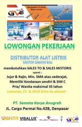 Lowongan Sales/Marketing Alat Listrik & Lampu