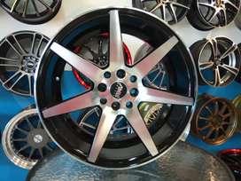 Jualvelgmurah Amw Racing r17x7.5/9.0 h8x100x114.3 black polish