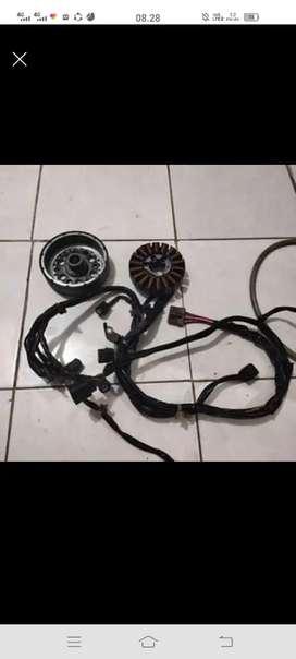 Magnet dan spull komplit kabel body vario125 old