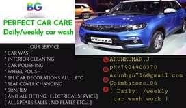 I need ,Daily /weekly car wash work