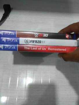 FIFA 20,WWE 2K20 AND LAST OF US FOR PS4