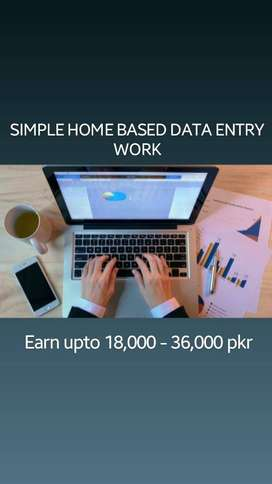 simple home based data entry work