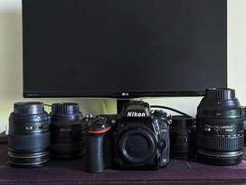 Nikon D750 Kit with 4 lenses.