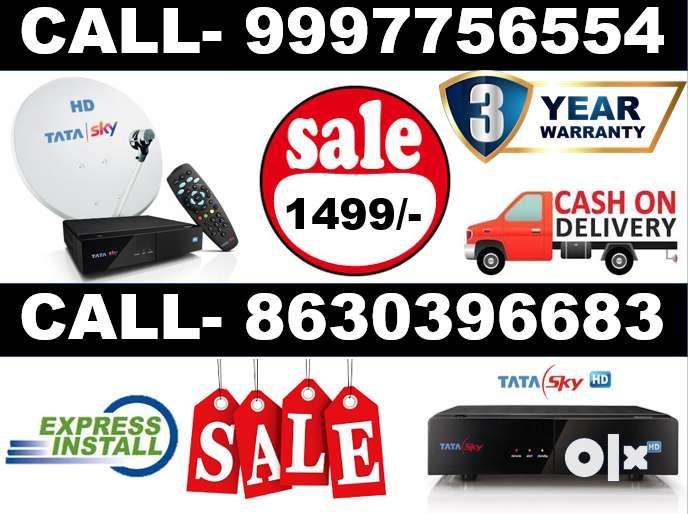 Dish Tv Tata Sky Dth Airtel Tv New HD Box- All India tatasky SD Box 0