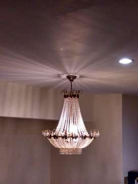 Lampu crystal strauss asli classic vintage model rangka kupu