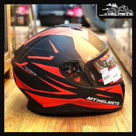 MT THUNDER  3 SF  EFFECT HELMET  red and mat black