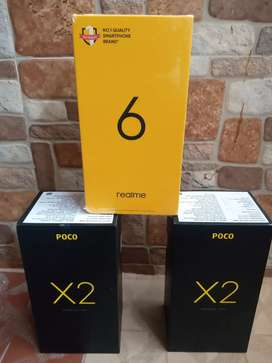 Redmi POCO X2 & Realme 6