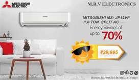 MITSUBISHI 1.0 TON (MS-JP12VF) SPLIT AC WITH 5 YEARS WARRANTY