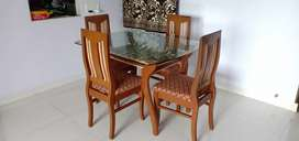 Dining table set of 4 chairs