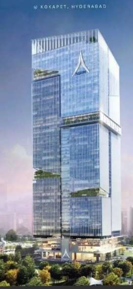 SKY TOWERS, G+63 FLOORS, COMMERCIAL SPACE WITH 25k RENT/ month