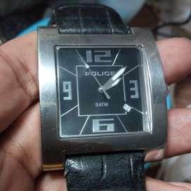 Jam Tangan Police Tali Kulit