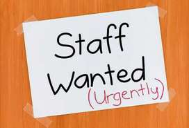 Limited staff required.