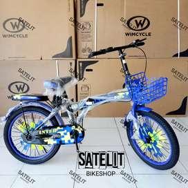 Sepeda Lipat SeLi Folding Bike Interbike Ukuran 16 dan 18 Inch
