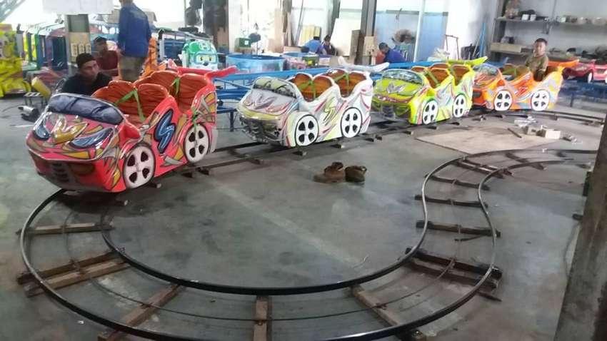 wahana odong odong mini roller coaster mainan labirin run M5 0