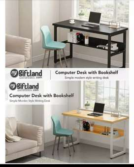 Desktop table, study table,laptop table with book shelves