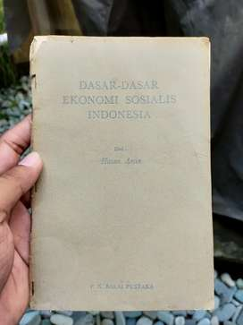 Buku Antik Dasar Dasar Ekonomi Sosialis Indonesia thn 1963