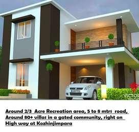 Pay Rs 2160/sqft - Highly satisfied 3bhk Villas @ Kozhinjampara