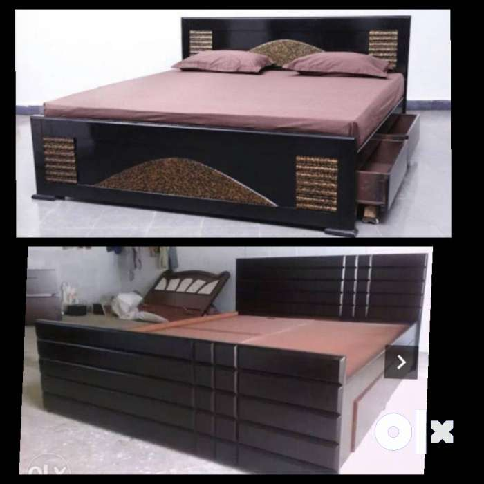New King size storage wooden double cot 6x6.5 0