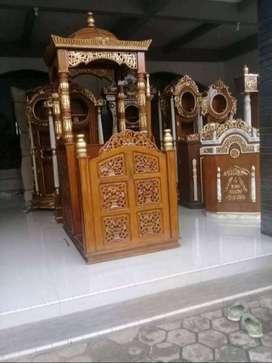 mimbar masjid kreta pintu dobel