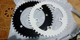chain ring 46t bcd 130 sepeda lipat fixie baru
