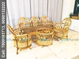 Brand New Cane Sofa Set (3+1+1) With Coffee Table